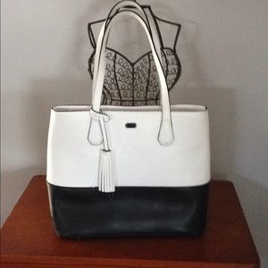 Rickis white and black purse